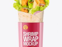 Shrimp Wrap Mockup