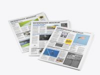 Three Newspapers Mockup