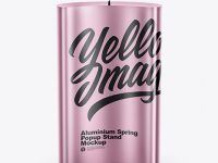 Metallic Spring Pop-Up Stand Mockup