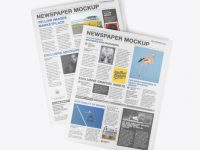 Two Newspapers Mockup