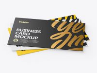 Three Business Cards Mockup