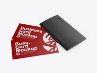 Glossy Cardholder w/ Two Textured Business Cards