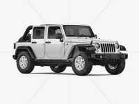Off-Road SUV Open Roof Mockup - Half Side View