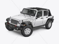 Off-Road SUV Open Roof Mockup - Left Half Side View