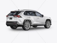 Compact Crossover SUV Mockup - Back Half Side View