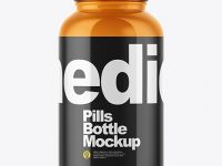 Glossy Pills Bottle Mockup