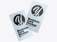 Two Transparent Business Cards Mockup