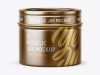 30g Metallic Jar Mockup