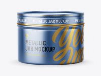 50g Metallic Jar Mockup
