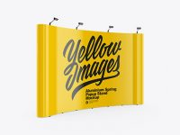 Glossy Spring Pop Up Stand Mockup