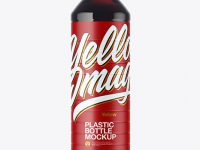 Clear Plastic Bottle with Cola Mockup