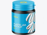 Matte Plastic Pills Jar Mockup - High-Angle Shot