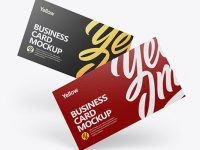 Paper Business Cards Mockup