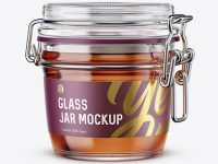 Glass Jar With Clamp Lid Mockup