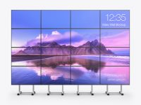 LED Video Wall Mockup - Front View