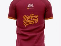 Men's Soccer V-Neck Jersey Mockup - Back View