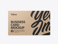 Kraft Business Card Mockup