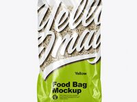 Food Bag with Pearl Barley Mockup
