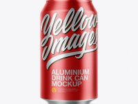 Metallic Aluminium Can Mockup