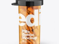 Orange Pills Bottle Mockup
