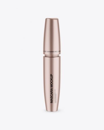 Metallic Mascara Tube Mockup