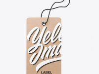Kraft Label With Rope Mockup