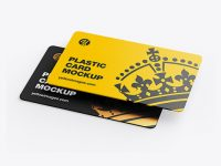 Two Plastic Cards Mockup