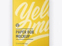 Paper Box Mockup - Top View