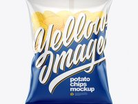 Bag With Corrugated Potato Chips Mockup