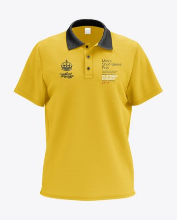 Mens Polo HQ Mockup - Front View