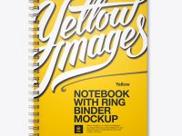 Notebook With Ring Binger Mockup - Front View