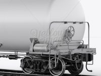 Railroad Tank Car Mockup - Halfside View