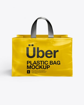 Plastic Shopping Bag PSD Mockup - Front View