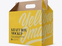 Kraft Box Mockup - Half Side View