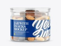 Jar with Snacks Mockup
