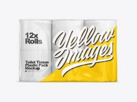 Toilet Paper 12 Pack Mockup - Front view