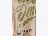 Kraft Stand-Up Pouch Mockup - Halfside View