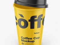 Matte Coffee Cup Mockup