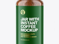 Glass Jar with Instant Coffee Mockup