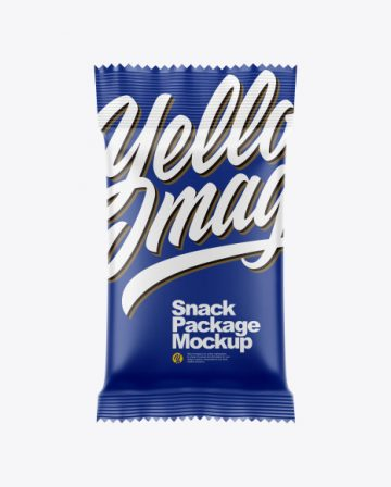 Snack Package Mockup - Front View