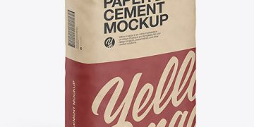 Kraft Paper Cement Bag Mockup
