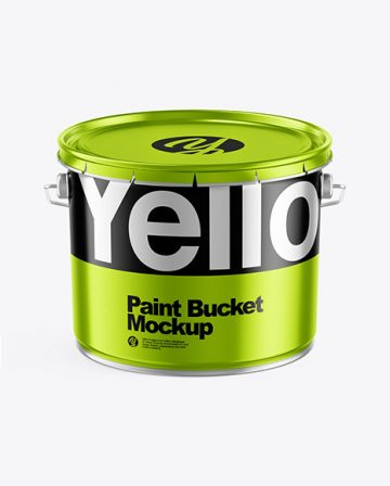 Metallic Paint Bucket