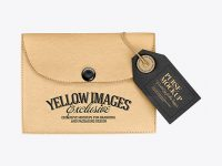 Kraft Purse w/ Label Mockup