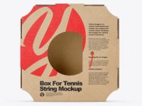 Box For Tennis String Mockup