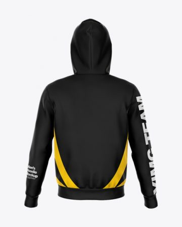 Zipped Hoodie Mockup - Back View