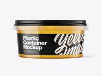 Plastic Container with Honey Mockup