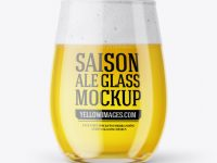 Tester Glass With Saison Ale Mockup