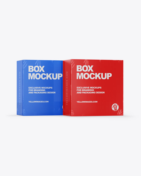 Download Two Paper Boxes Mockup Exclusive Mockups PSD Mockup Templates