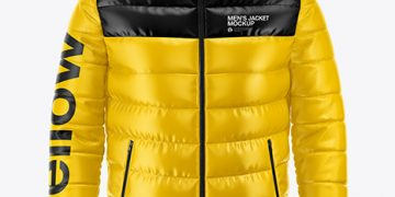 Men's Down Jacket Mockup - Front View