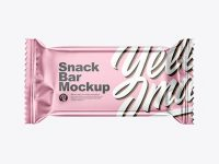 Matte Metallic Snack Bar Mockup